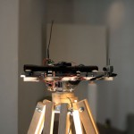 Killer Laser Robot 1, 2011, Size of the robot 100 x 140 x 100 cm, Wood, Electronics, Aluminium, Mechanics, Motors, Rifle Scope, Wireless camera, FM wireless control, Laserpointer, Television, Joystick