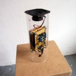 Build Up, 2013, Electronics, Speaker, Acrylic, 30 x 16 x 16 cm